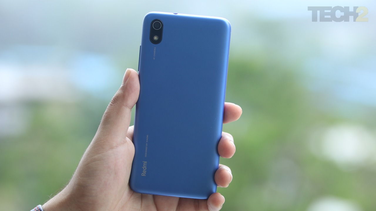 The Redmi 7A does not feature a fingerprint scanner at all. Image: tech2/ Sahil S.