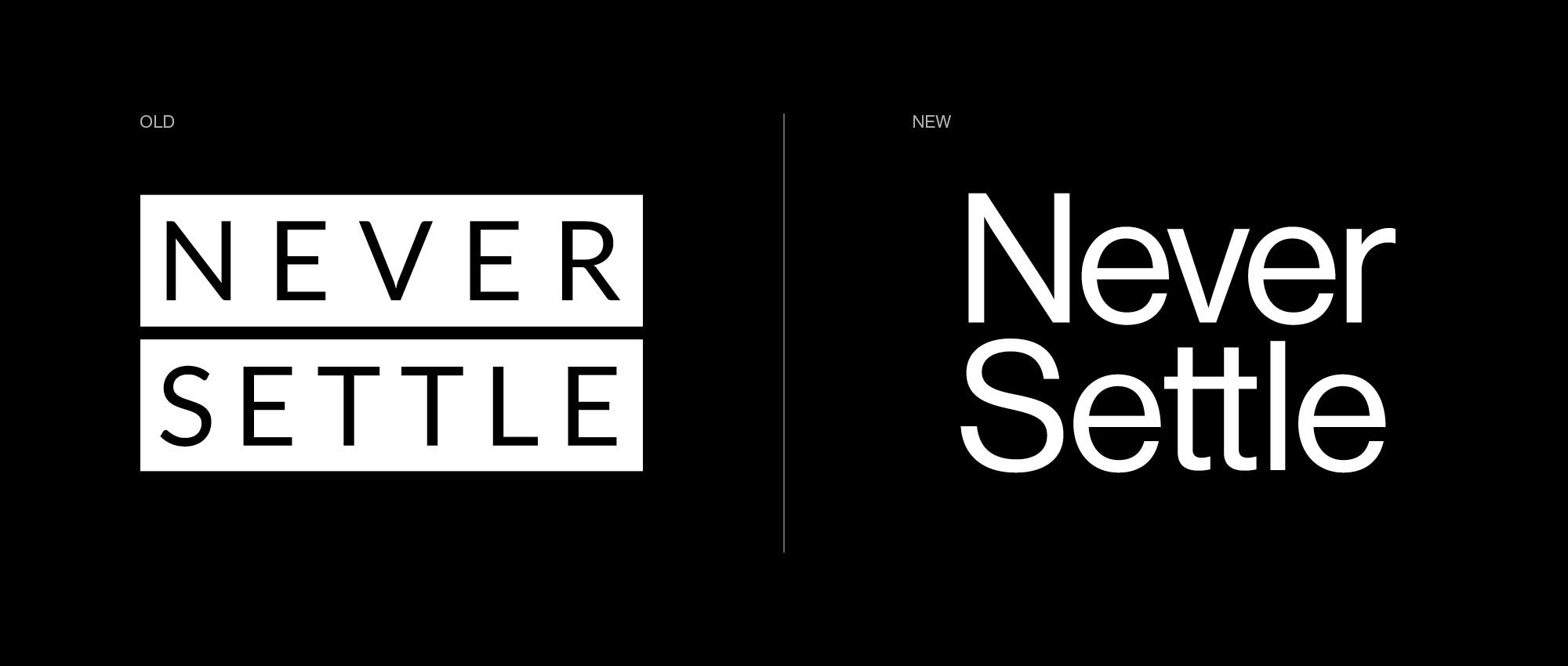Old and New OnePlus tagline. Image: OnePlus