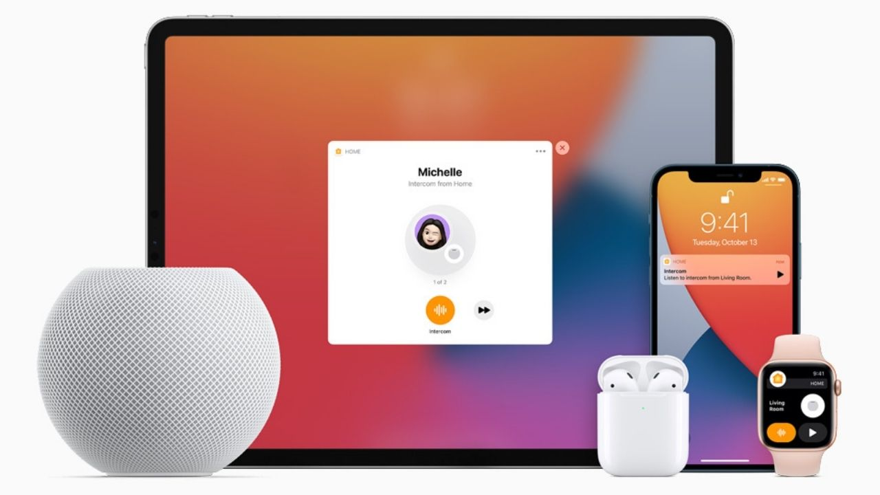 The HomePod Mini can be connected with all Apple devices.