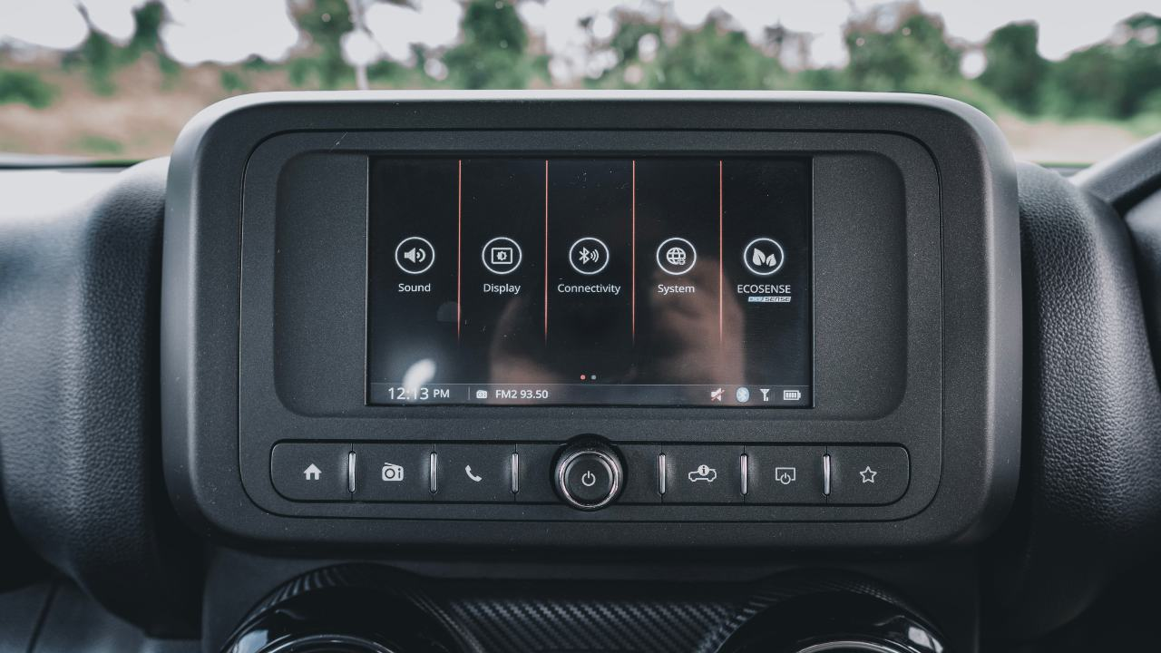 2020 Mahindra Thar infotainment screen