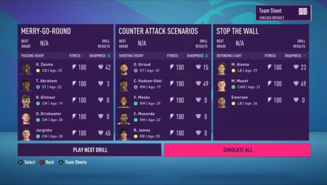 Training is a lot more fluid than it was in previous editions, with none of those only five sessions per week restrictions. Screen grab from FIFA 21