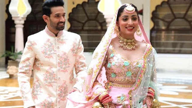 Vikrant Massey and Yami Gautam in a still from Ginny Weds Sunny