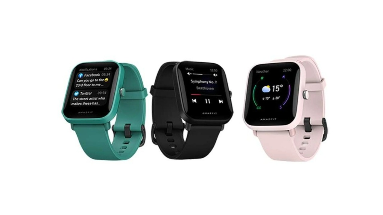 Amazfit Bip U in all available colors. Image: Amazfit