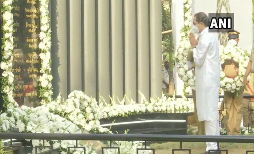 Chief Minister Uddhav Thackeray pay homage to victims of the 26/11 terror attack on its 12th anniversary. ANI