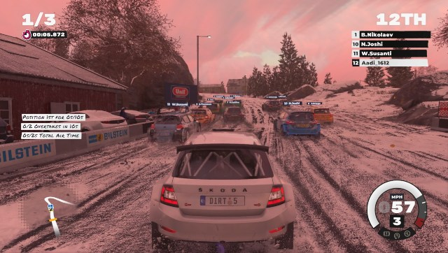 Having made the heroic decision of playing on a higher difficulty level despite being terrible at racing games, this is the view I had for most races. Screen grab from DIRT 5