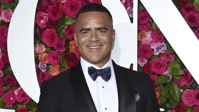 "Christopher Jackson arrives at the 72nd annual Tony Awards on 10 June, 2018, in New York. The inaugural celebration will be pared down, distanced, and much of it virtual. Still, a slew of celebrities will be descending on Washington, virtually and a few in person. Actor Christopher Jackson, the original George Washington in Broadway's ""Hamilton,"" will be performing at a virtual ""ball"" for the Creative Coalition. (Photo by Evan Agostini/Invision/AP, File)"