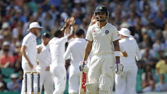 File image of Virat Kohli during a Test against England at The Oval in London on 17 August, 2014. AFP