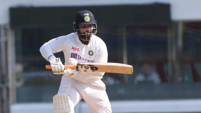 Rishabh Pant of (WK) India plays a shot during day three of the first test match between India and England held at the Chidambaram Stadium stadium in Chennai, Tamil Nadu, India on the 7th February 2021 Photo by Pankaj Nangia/ Sportzpics for BCCI