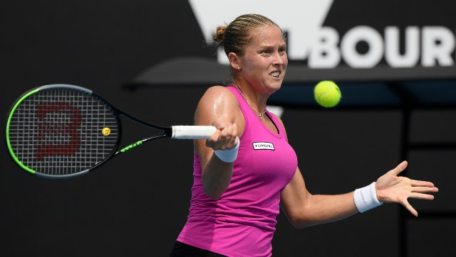 Shelby Rogers hit seven aces in her win and lost only three points on her first serve. AP