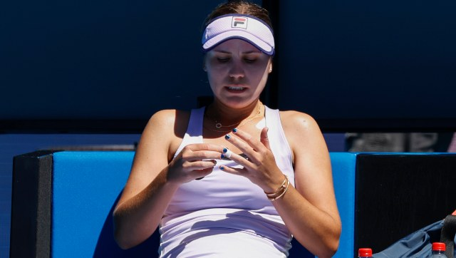 Sofia Kenin lost her second round match in straight sets. AP