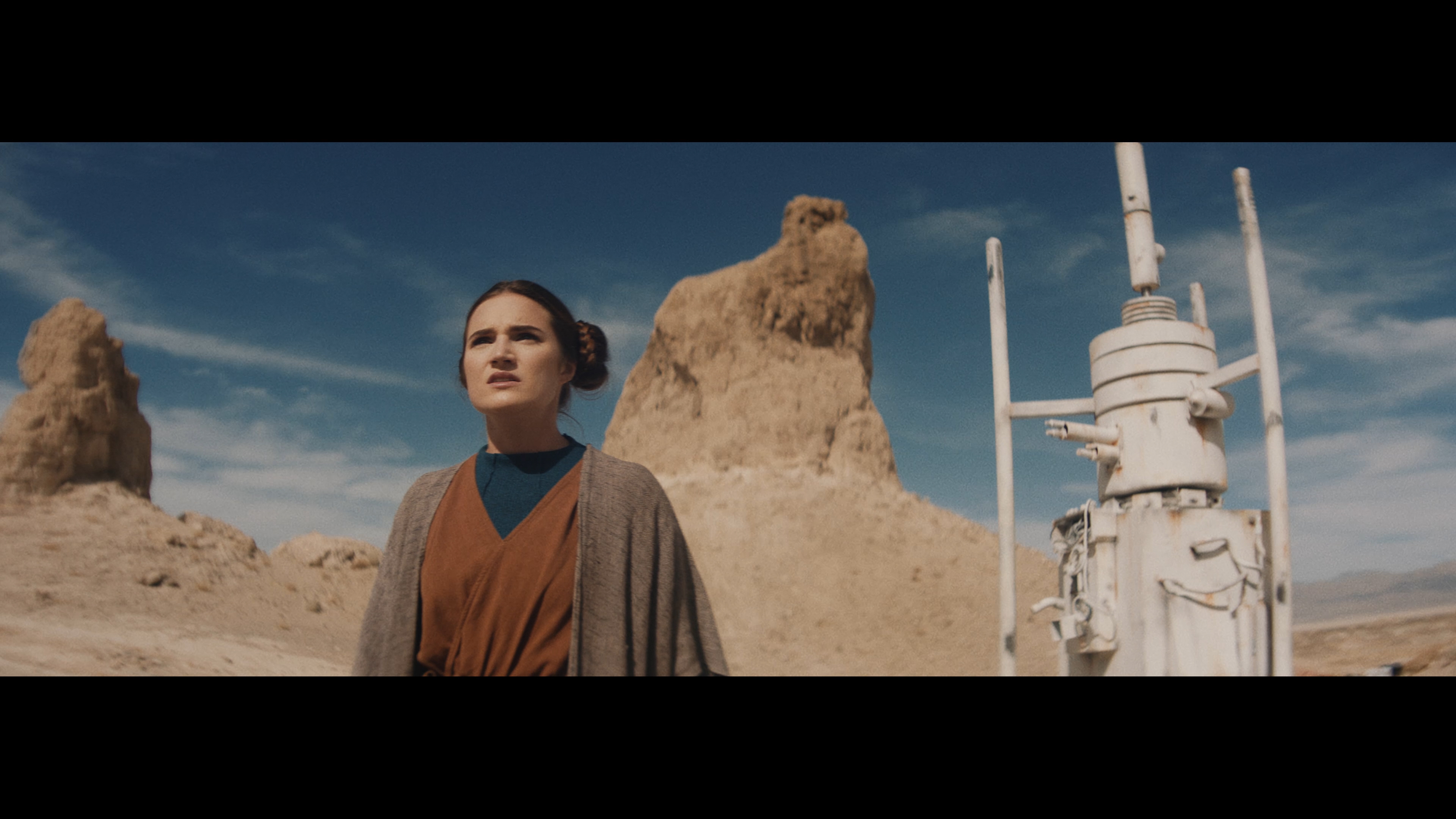 """In an image provided by the filmmakers, Maxine Phoenix stars in """"Kenobi,"""" a fan-made Star Wars live-action short that has more than 5.7 million views on YouTube. For the first time in half a decade, a year has gone by without a new """"Star Wars"""" film. But across YouTube, there are plenty of fan-made movies set in a galaxy far, far away. (Jac Cheairs via The New York Times) -- NO SALES; FOR EDITORIAL USE ONLY WITH STARWARS FAN FILMS ADV10 BY PHILBRICK FOR JAN. 10, 2021. ALL OTHER USE PROHIBITED. --"""